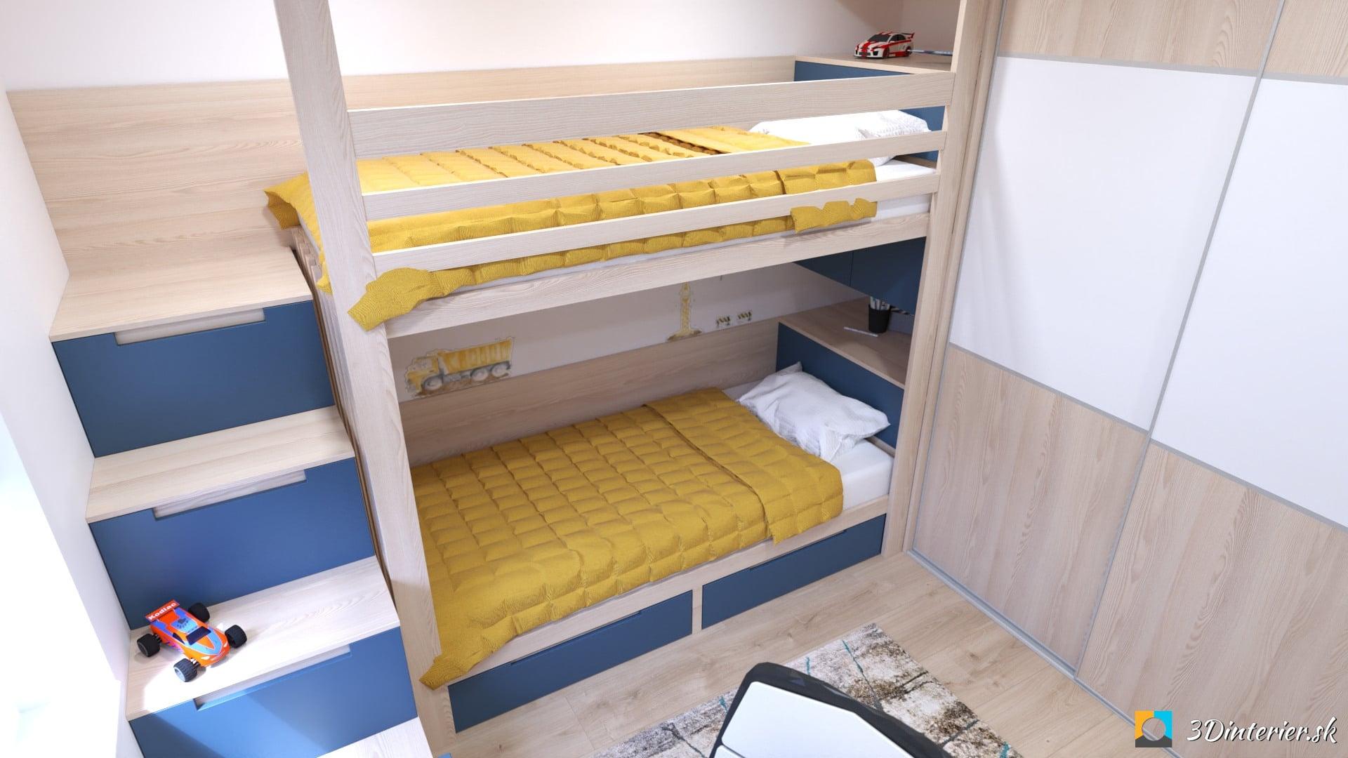 poschodová posteľ na mieru