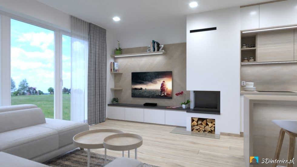 krb s tv stenou v obývačke