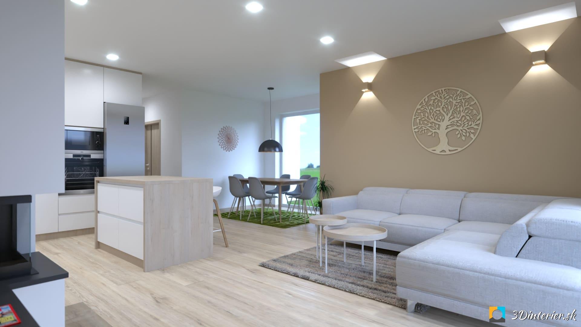 nástenné svetlá v obývačke