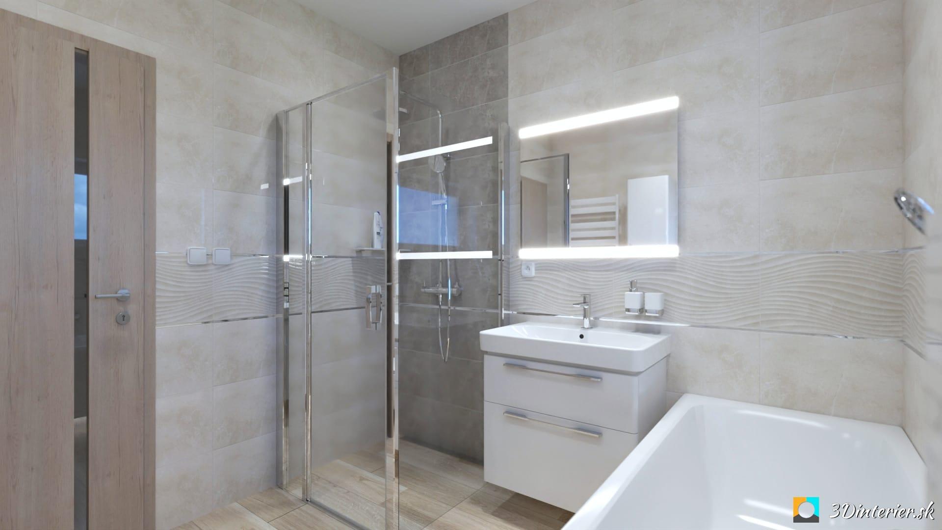 sprchovací kút sivý mramorový obklad