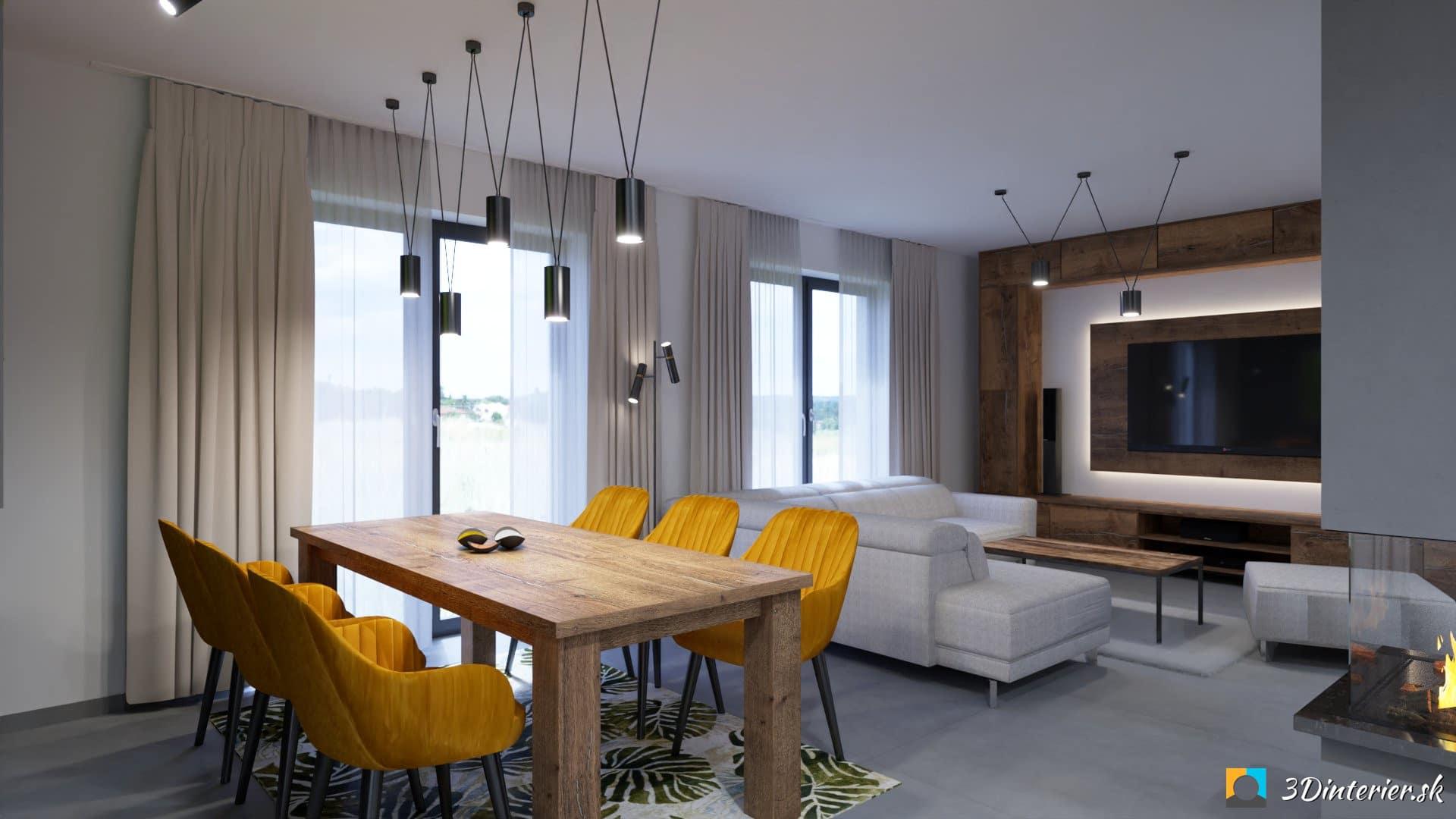 moderný interiér a industriálny štýl